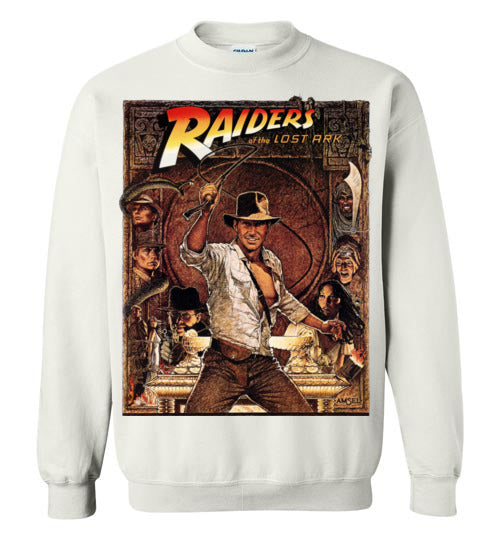 Indiana Jones,Harrison Ford,cult classic,movie,v5,Raiders of the Lost Ark,Gildan Crewneck Sweatshirt