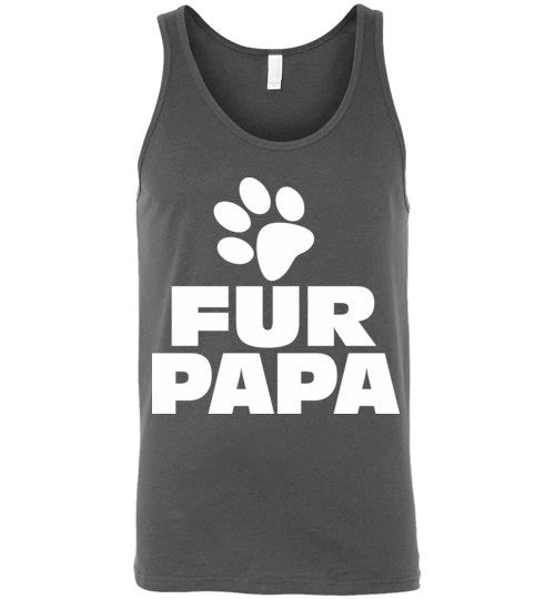 Fur Papa, Mens Funny , Gifts For Dads or Grandpas , Canvas Unisex Tank