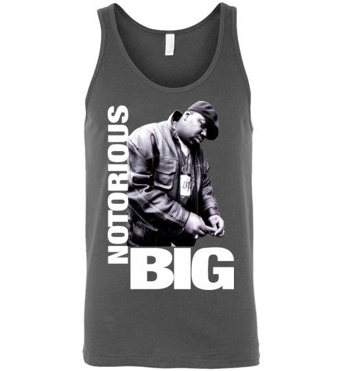 Notorious BIG Biggie Smalls Big Poppa Frank White Christopher Wallace,Bad Boy Records, Hip Hop New York Brooklyn,v9, Canvas Unisex Tank