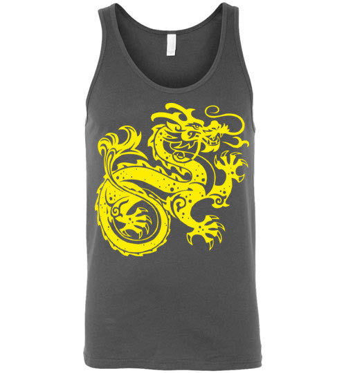 Chinese Dragon v2 , Canvas Unisex Tank
