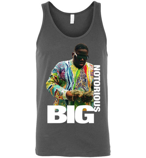 Notorious BIG Biggie Smalls Big Poppa Frank White Christopher Wallace,Bad Boy Records, Hip Hop New York Brooklyn,v8b, Canvas Unisex Tank