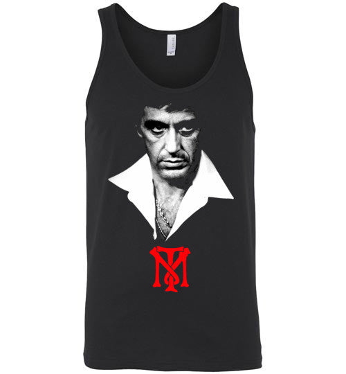 Tony Montana Scarface Al Pacino Gangster Movie 80's ,v2, Canvas Unisex Tank