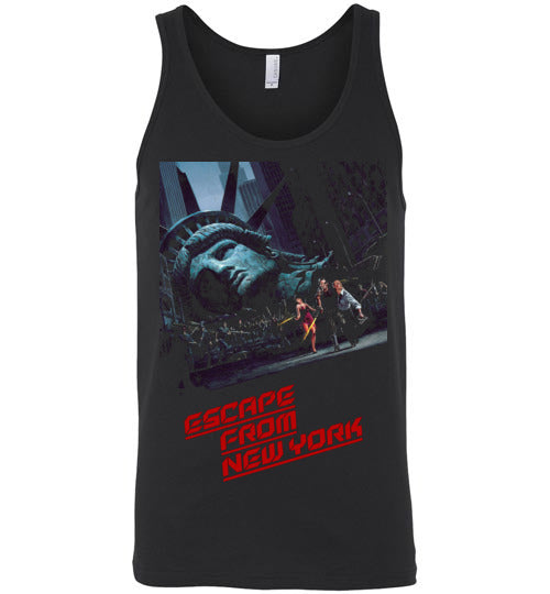 Escape from New York, science-fiction action film, John Carpenter,Snake Plissken,Kurt Russell,cult classic,movie,v4,Canvas Unisex Tank