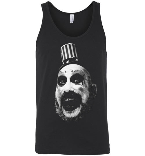 House of 1000 Corpses, Rob Zombie,Captain Spaulding, Classic Horror Film,v1,Canvas Unisex Tank