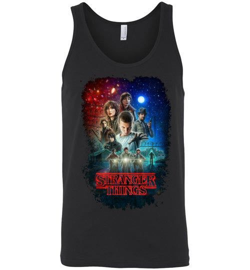 Stranger Things Tv Show/Sci Fi/ Netflix Series , v7, Canvas Unisex Tank