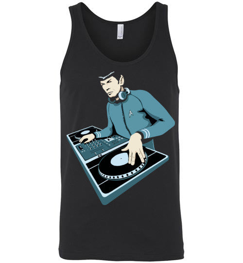 Spock Star Trek DJ , Canvas Unisex Tank