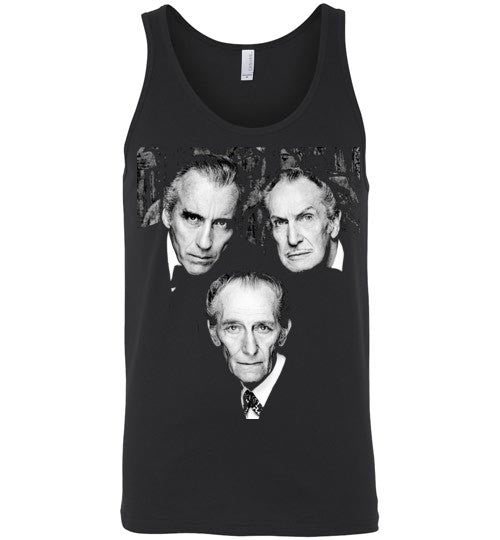 Christopher Lee Vincent Price and Peter Cushing Dracula Vampire Cult Movie Horror Classic , Canvas Unisex Tank