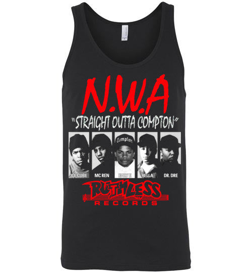 NWA Straight Outta Compton Ruthless Records Eazy E Dr Dre Ice Cube v8 , Canvas Unisex Tank