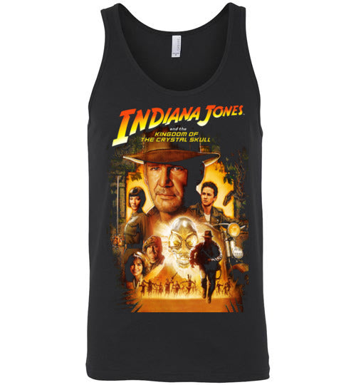 Indiana Jones,Harrison Ford,cult classic,movie,v4,Kingdom of the Crystal Skull, Canvas Unisex Tank