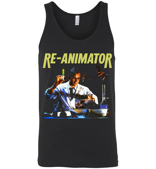 Re-animator H. P. Lovecraft 1985 Horror Movie Classic  v2, Canvas Unisex Tank