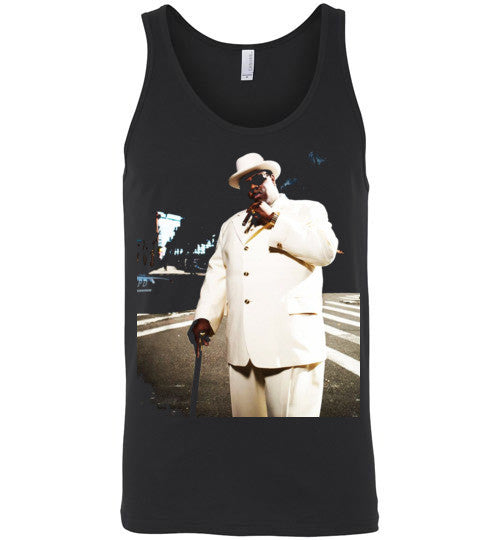Notorious BIG Biggie Smalls Big Poppa Frank White Christopher Wallace,Bad Boy Records, Hip Hop New York Brooklyn,v7, Canvas Unisex Tank