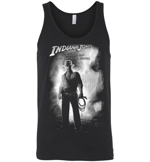 Indiana Jones,Harrison Ford,cult classic,movie,v2,Kingdom of the Crystal Skull,Canvas Unisex Tank