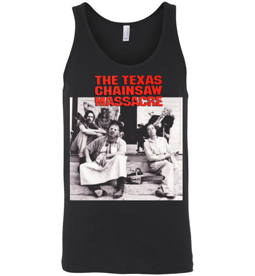 The Texas Chain Saw Massacre,1974 horror film,Leatherface,Ed Gein, slasher,v6,Canvas Unisex Tank