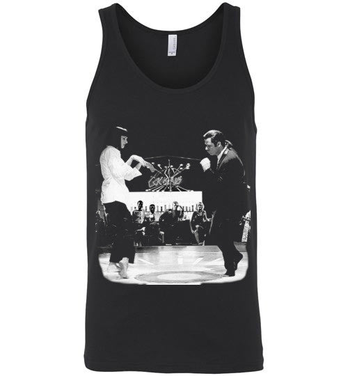 Pulp Fiction Dance, Quentin Tarantino,  John Travolta, Vincent & Mia , Canvas Unisex Tank