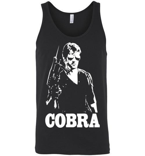 Cobra, Sylvester Stallone, action film,1986, cult classic,movie,Canvas Unisex Tank