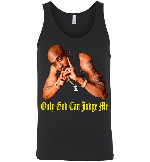 Tupac 2pac Shakur Makaveli Only God Can Judge Me v14, Canvas Unisex Tank