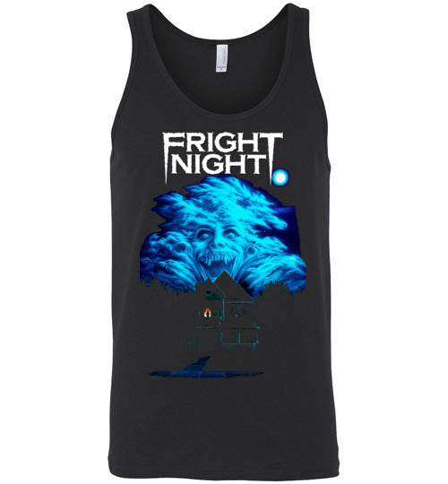 Fright Night 1985 Horror Movie Vampires Dracula classic cult vampire film ,v3,Canvas Unisex Tank