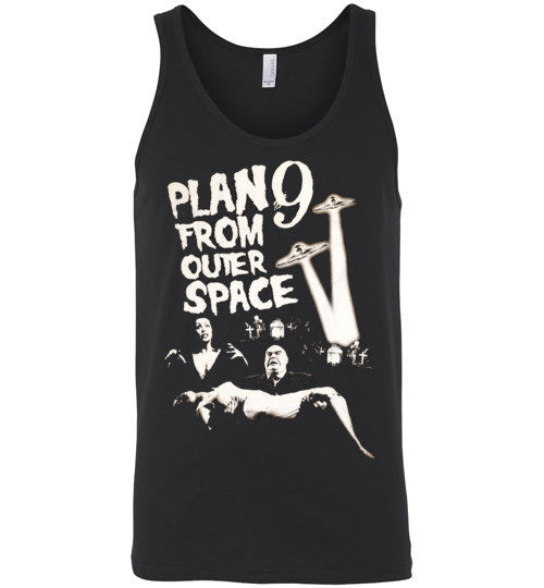 Plan 9 from Outer Space Horror Movie Ed Wood ,Vampira ,Tor Johson ,  Canvas Unisex Tank