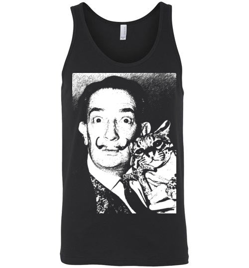 Salvador Dali Cat Ocelot,v2,Canvas Unisex Tank