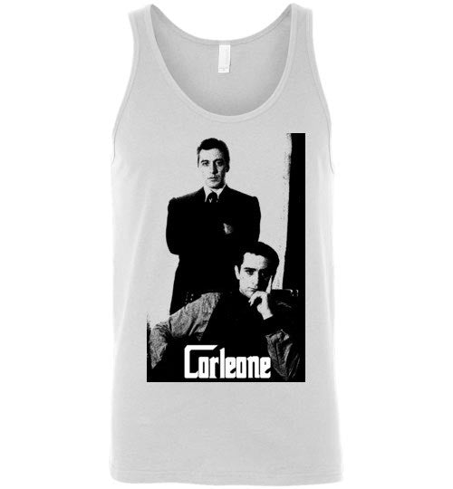 The Godfather Corleone Mafia Shirt Tee Robert De Niro Al Pacino , v2b, Canvas Unisex Tank