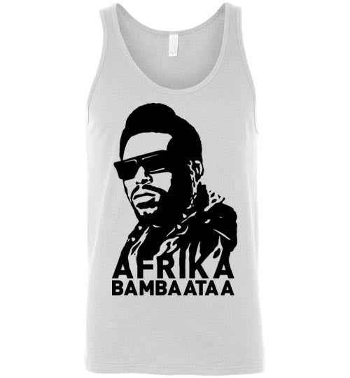 Afrika Bambaataa ,South Bronx, New York, Electro Funk,Universal Zulu Nation,Old School Hip Hop,Planet Rock,v2, Canvas Unisex Tank