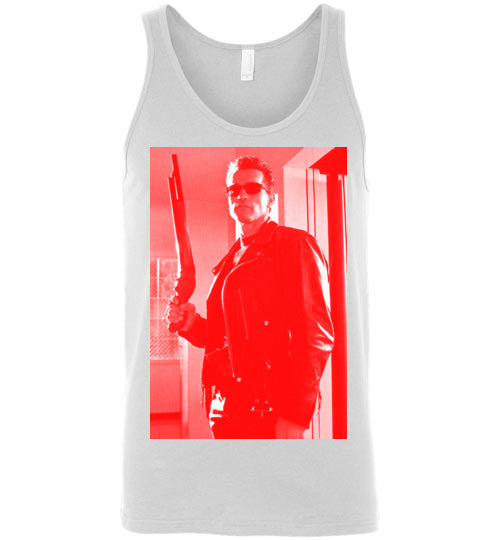 The Terminator, science-fiction action film, Arnold Schwarzenegger,cult classic,movie,v4,Canvas Unisex Tank