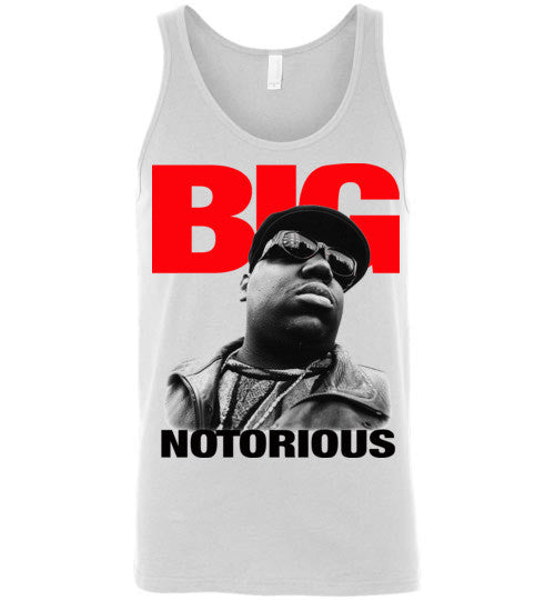 Notorious BIG Biggie Smalls Big Poppa Frank White Christopher Wallace,Bad Boy Records, Hip Hop New York Brooklyn,v4,Canvas Unisex Tank