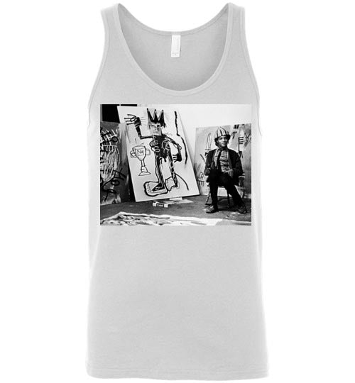 Basquiat Graffiti Icon Art Streetart expressionist,v19,Canvas Unisex Tank