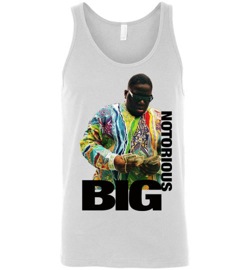 Notorious BIG Biggie Smalls Big Poppa Frank White Christopher Wallace,Bad Boy Records, Hip Hop New York Brooklyn,v8a, Canvas Unisex Tank