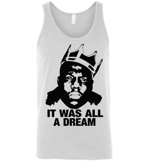 Notorious BIG Biggie Smalls Big Poppa Frank White Christopher Wallace,Bad Boy Records, It Was All A Dream,v6, Canvas Unisex Tank