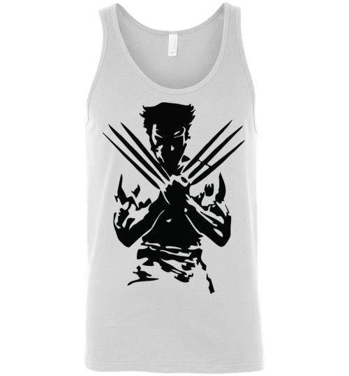 Logan Wolverine Xmen Marvel Super Hero v1, Canvas Unisex Tank