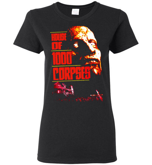 House of 1000 Corpses, Rob Zombie,Captain Spaulding, Classic Horror Film,v2,Gildan Ladies T-shirt