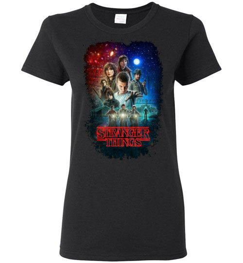 Stranger Things Tv Show/Sci Fi/ Netflix Series , v7, Gildan Ladies T-Shirt
