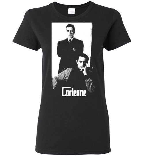 The Godfather Corleone Mafia Robert De Niro Al Pacino v2a , Gildan Ladies T-Shirt