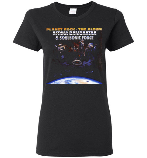 Afrika Bambaataa & Soulsonic Force , New York, Electro Funk,Universal Zulu Nation,Old School Hip Hop,Planet Rock, v4, Gildan Ladies Tee