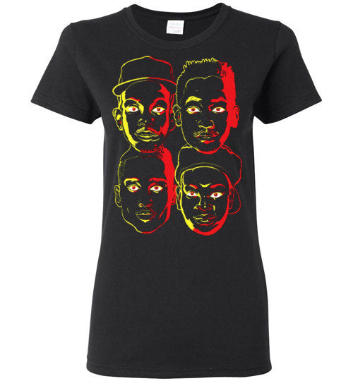 ATCQ A Tribe called Quest Classic Hip Hop New York City Low End Theory Phife Dawg Q-tip , v3, Gildan Ladies T-Shirt