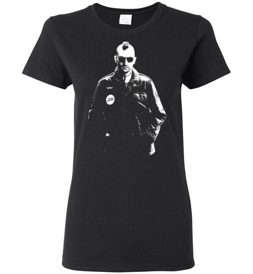 Taxi Driver, cult classic,movie,1976,Martin Scorsese, Robert De Niro, Jodie Foster, Harvey Keitel,v2,Gildan Ladies T-Shirt
