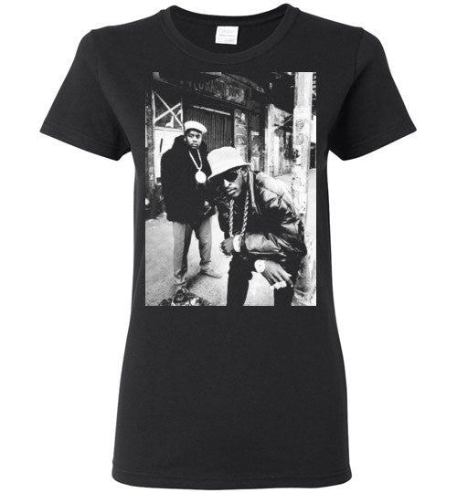 Eric B & Rakim New York Classic Hip Hop Rap , v1, Gildan Ladies T-Shirt