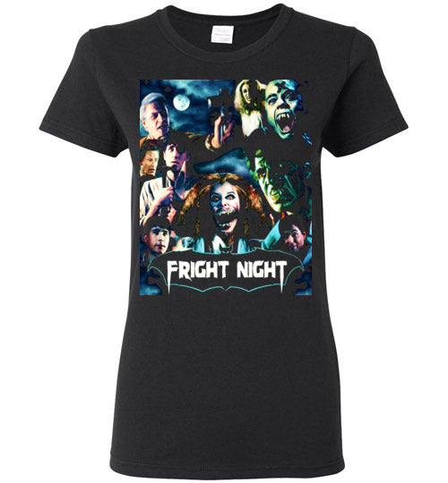 Fright Night 1985 Horror Movie Vampires Dracula classic cult vampire film,v1,Gildan Ladies Shirt