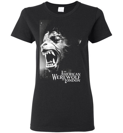 An American Werewolf in London,1981 horror comedy,horror movie classic,v2,Gildan Ladies Shirt