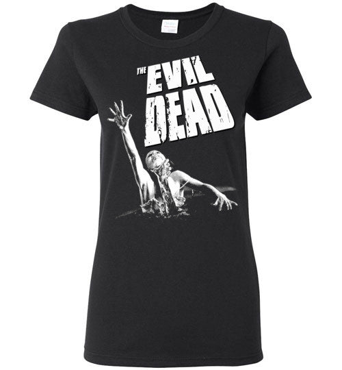 Evil Dead Army Of Darkness Horror Zombies Movie , v8, Gildan Ladies T-Shirt