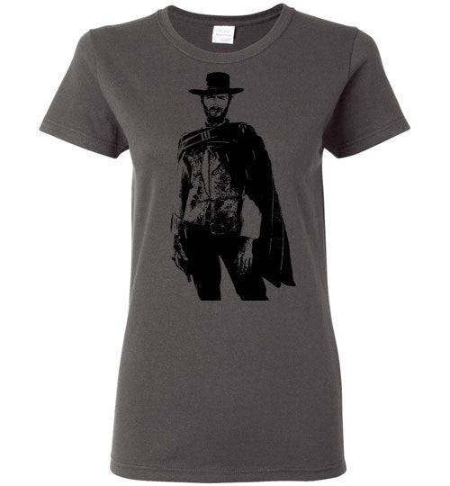 Clint Eastwood - The Man with No Name , v1 , Gildan Ladies T-Shirt