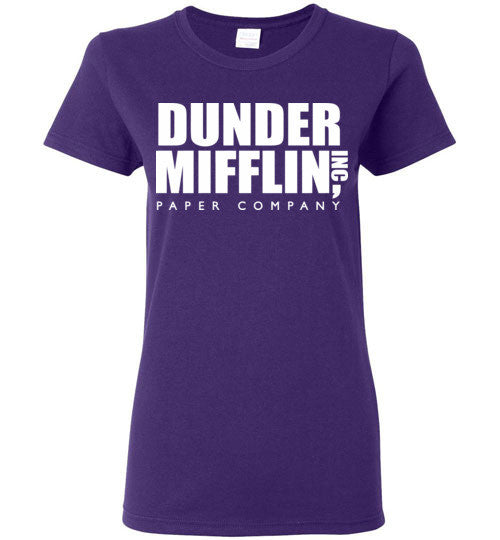 Dunder Mifflin Inc Paper Company The Office TV Show, Gildan Ladies T-Shirt