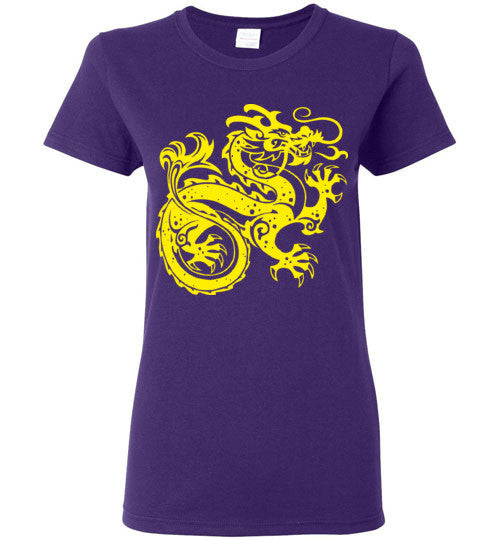 Chinese Dragon v2 , Gildan Ladies T-Shirt