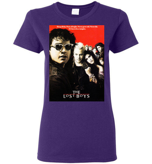 The Lost Boys vintage Vampires Horror Movie , v4 , Gildan Ladies T-Shirt