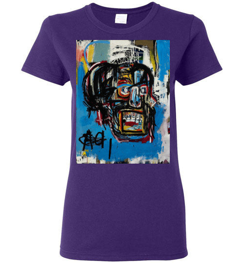 Jean Michel Basquiat Artist Graffiti , Gildan Ladies T-Shirt v1