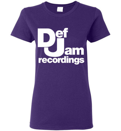 Def Jam Recordings Classic Hip Hop , Gildan Ladies T-Shirt