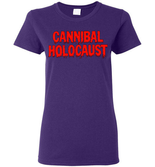 Cannibal Holocaust Ruggero Deodato Horror Zombies Movie , v3, Gildan Ladies T-Shirt
