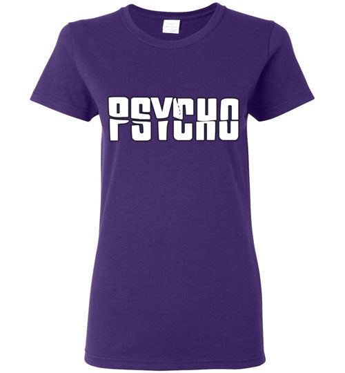 Psycho Alfred Hitchcock Norman Bates v6  Gildan Ladies Short-Sleeve