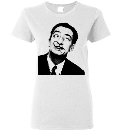 Salvador Dali,v2,Ladies Tee
